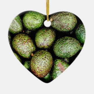 Avocados Ceramic Heart Ornament