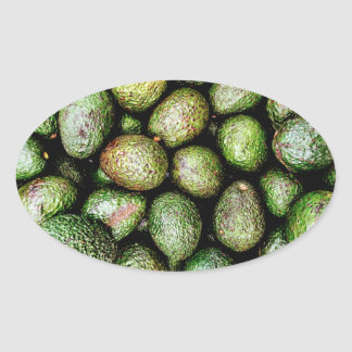 Avocados Oval Sticker