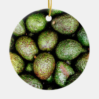 Avocados Round Ceramic Ornament