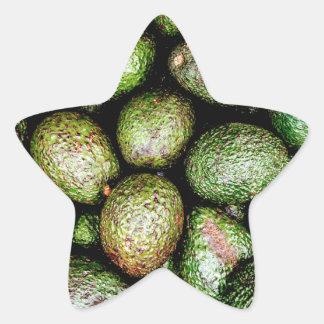 Avocados Star Sticker