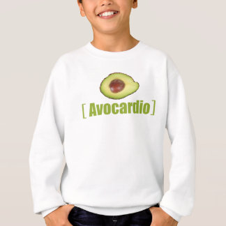 Avocardio Funny avocado Illustrated Pun Vegetable Sweatshirt