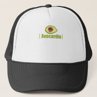 Avocardio Funny avocado Illustrated Pun Vegetable Trucker Hat