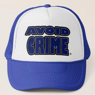 Avoid Crime Blue Worded Trucker-Hat Trucker Hat
