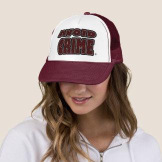 Avoid Crime Red Worded Trucker-Hat Trucker Hat
