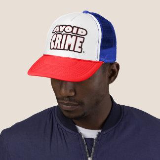 Avoid Crime White Worded Trucker-Hat Trucker Hat