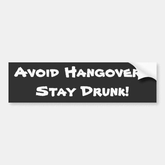 Avoid Hangovers Stickers