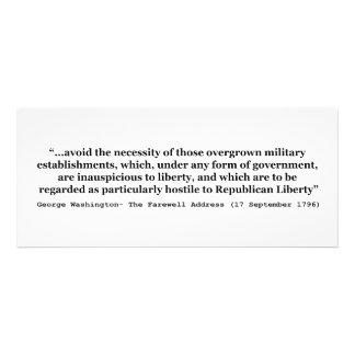 Avoid Overgrown Military Establishments Washington Invite
