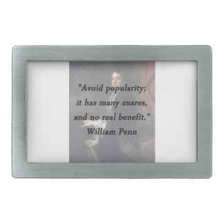 Avoid Popularity - William Penn Rectangular Belt Buckles