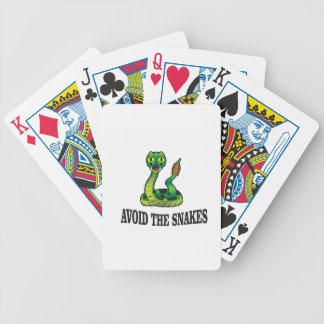 avoid the snakes bicycle playing cards