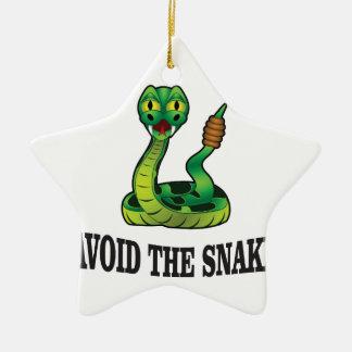 avoid the snakes ceramic ornament