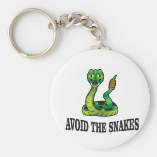 avoid the snakes keychain