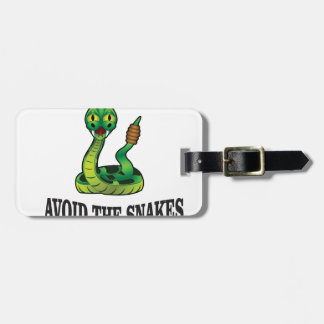 avoid the snakes luggage tag