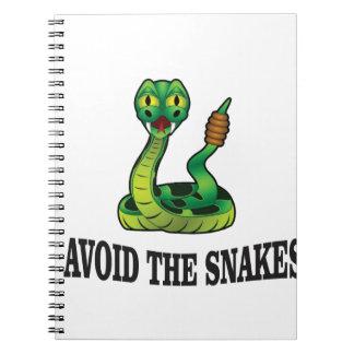 avoid the snakes notebook