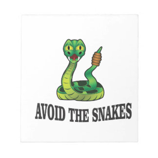 avoid the snakes notepad