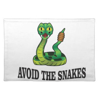 avoid the snakes placemat