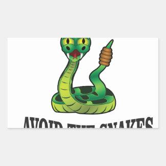avoid the snakes sticker