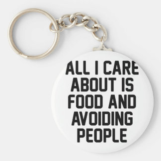 Avoiding People Keychain