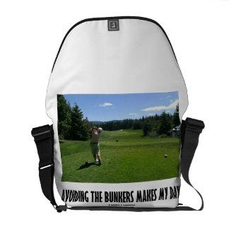 Avoiding The Bunkers Makes My Day (Golf) Messenger Bag