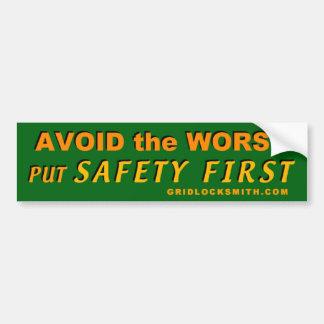 AvoidWorst-SafetyFirst Bumper Sticker