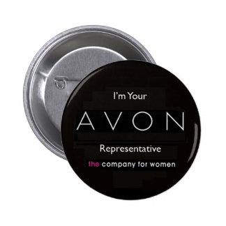avon badge 2 inch round button