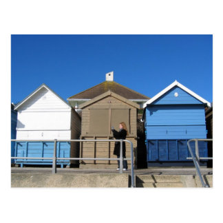 Avon Beach , Hampshire. UK. 07.02.04 Postcard