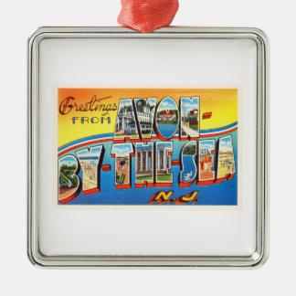 Avon by the Sea New Jersey NJ Vintage Postcard - Metal Ornament