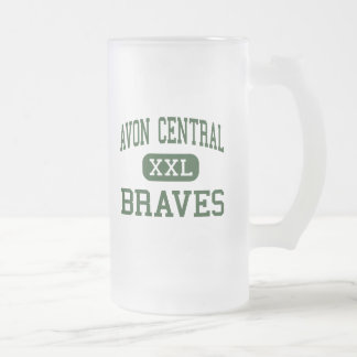 Avon Central - Braves - High - Avon New York 16 Oz Frosted Glass Beer Mug