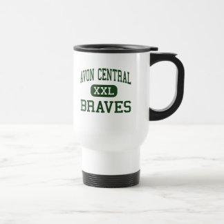 Avon Central - Braves - High - Avon New York 15 Oz Stainless Steel Travel Mug