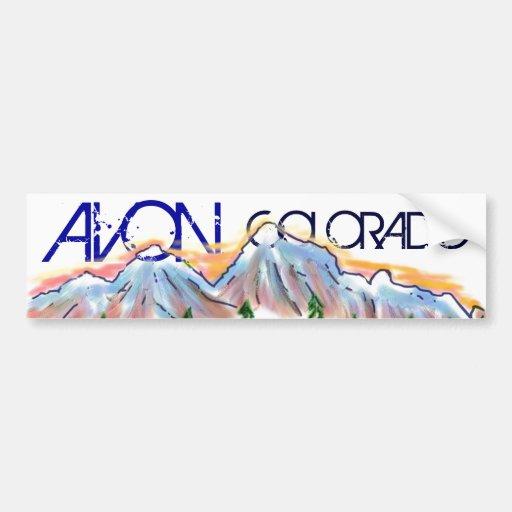 Avon Colorado artistic mountain sticker Bumper Stickers