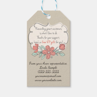 Avon Free Gift, Customer Thank You Pack Of Gift Tags