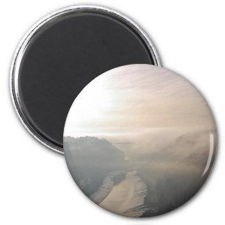 Avon Gorge in the mist 2 Inch Round Magnet