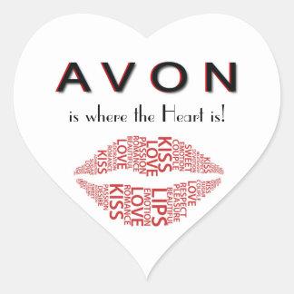 AVON Heart Sticker