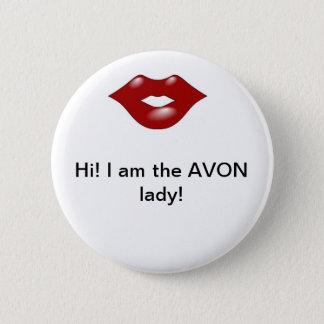 Avon Lady 2 2 Inch Round Button