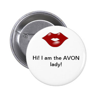 Avon Lady 2 2 Inch Round Button