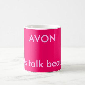 AVON, Let's talk beauty! Classic White Coffee Mug