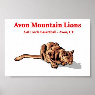 Avon Mountain Lions - Basketball Club Poster