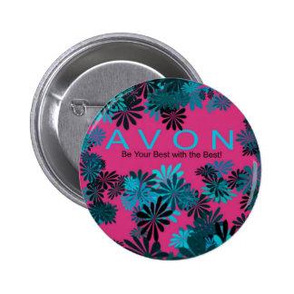 AVON pink and blue Motivational button