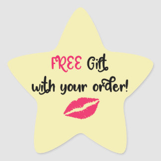 Avon Promotional, Free Gift with Your Order Star Sticker