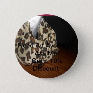 Avon rep button badge
