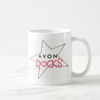 AVON Rocks! Classic White Coffee Mug