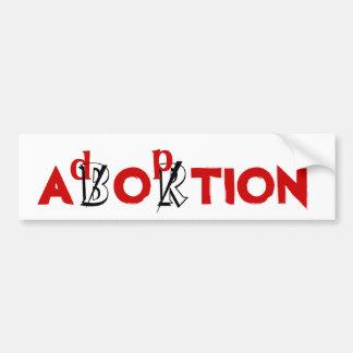 AVORTEMENT/adoption Autocollant De Voiture