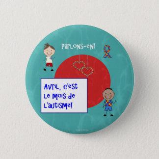 Avril c'est le mois de l'autisme rond macaron 2 inch round button