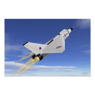 Avro Arrow AB Climb Poster