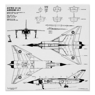 Avro Arrow Blueprints Poster