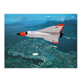 Avro Arrow over Vancouver Photo Print
