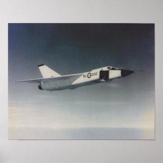Avro Arrow- RL202 low angle Poster