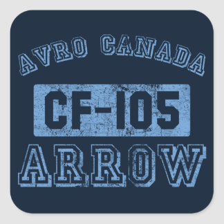 Avro Canada Arrow - BLUE Square Sticker