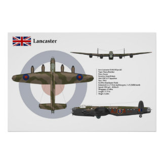 Avro Lancaster BI Special 617 Squadron Poster