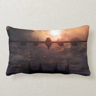 Avro Lancaster Bomber Over Lincoln Cathedral Lumbar Pillow