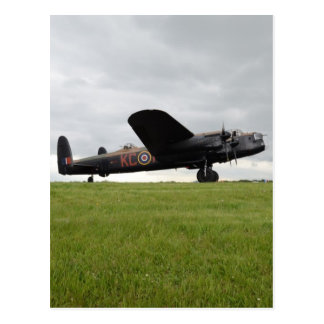 Avro Lancaster On The Field Postcard